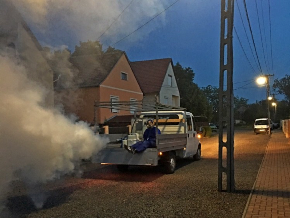 Szúnyoggyérítés Derecskén-2020. július 13-14.