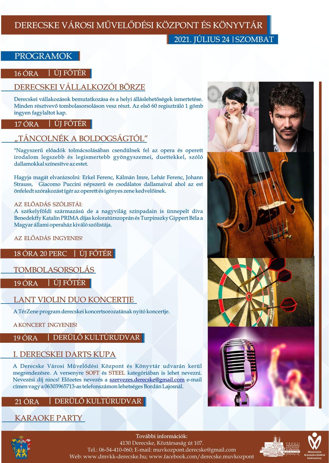 Július 24-i programok