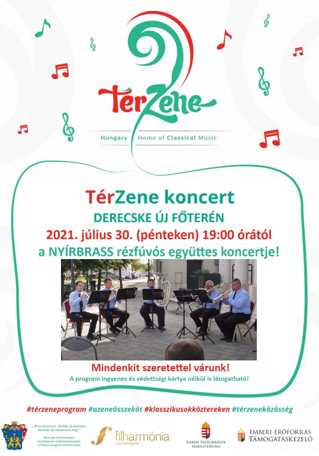 TérZene koncert-NYÍRBRASS együttes