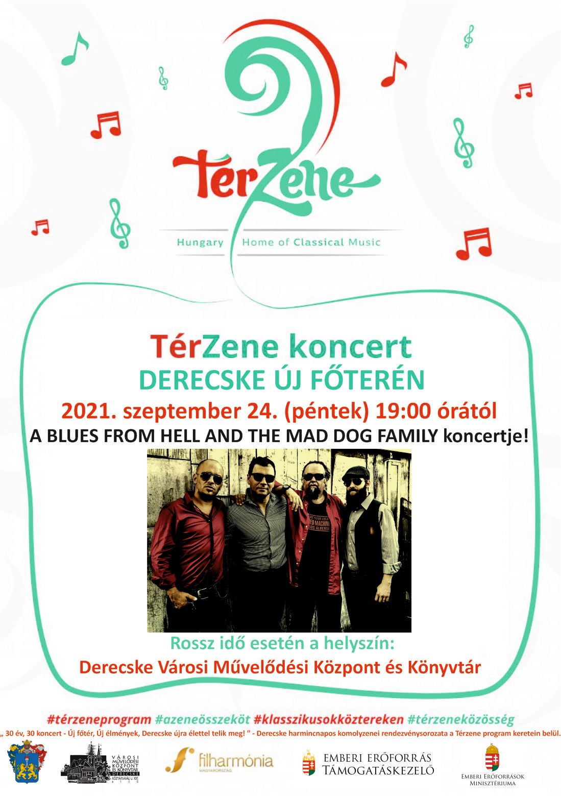 Térzene koncert-Blues From Hell and The Mad Dog Family